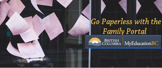 IMPORTANT INFORMATION REGARDING THE INTRODUCTION OF MYEDUCATIONBC FAMILY PORTAL April 21st, students will receive a personalized letter about the new MyEducationBC Family Portal access. With the introduction of the Family […]