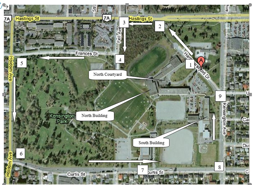 map of the Terry Fox event route