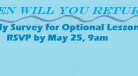 May 21, 2020 Parent Survey (Return to In-Class Instruction) (.pdf) Survey Link (Please complete by 9am Monday May 25) Dear Families: I'm writing with an update about our school's plans […]